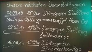 08.09.2015 Besuch des Nurona Pflegezentrum Hofbieber