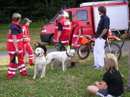 Übung mit Feuerwehr und DRK